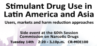 Stimulant drug use in Latin America and Asia
