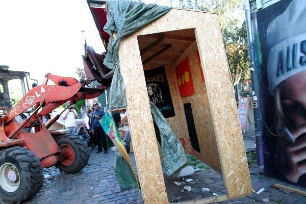 christiania stalls removed